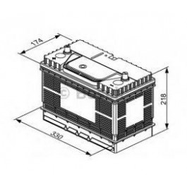 Batterie BOSCH 105Ah 12V 800A