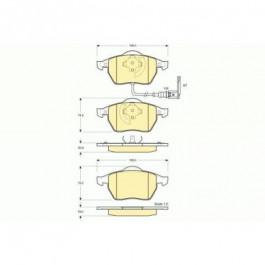 Jeu de plaquettes de frein avant Audi A3 TT / Seat Leon Toledo / Vw Golf 4 - Bora