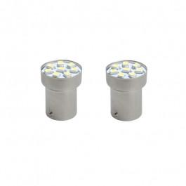 Ampoules LED BA15s G18 SMD 5050 Blanche 12V