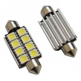 2 Ampoules Navettes à led effet Xenon c5w 37mm