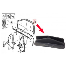 Clips de Fixation Guide Leve Vitre Citroen Saxo Zx Peugeot 106 306